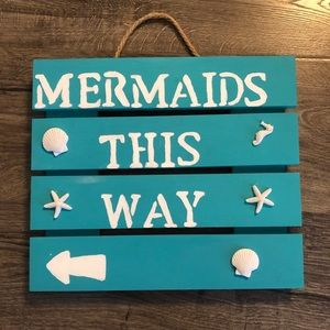Handmade Mermaid Sign and Photo Booth Props